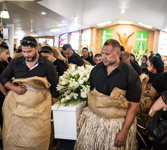 A Tongan funeral at Holy Spirit Parish, St Clair